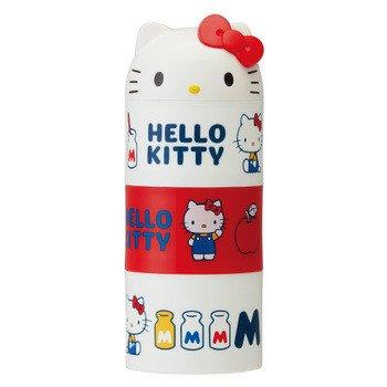 Type de bouteille Boîte à repas Bento à 3 compartiments 480 ml 【 Hello Kitty 】 par Skater Lrt3d