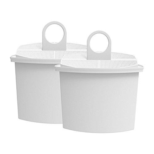 AquaCrest AQK-12 Kompatibler Kaffeemaschinen Wasserfilter Ersatz für Braun Brita KWF2; Aroma Select KF130, KF140, KF145, KF147, KF150, KF155, KF160, Aroma Passion KF550, KF560, KFT150, KK148 (2) - Kaffee-filter Braun Für