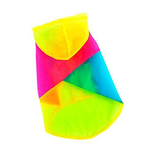 Klimaanlage Kostüm - Hundeweste Shirts Haustier Kleidung Sommer Sonnenschutz UV 27+ Haustier Klimaanlage Oberteile Dünne Sonnencreme Mit Kapuze Rock Anzug (Color : Colorful, Size : L)
