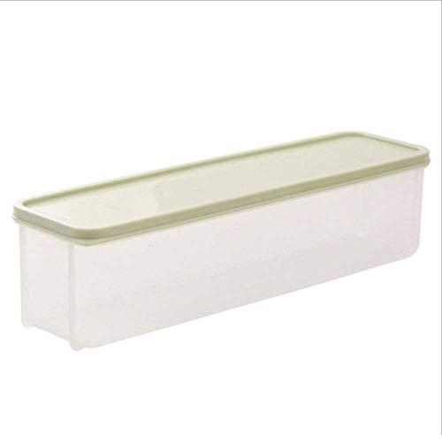 RoadRoma Kitchen Crisper Noodle Preservation Box Rectangle Plastic Food Storage Box Green Rectangle Food Storage