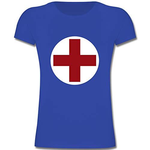 Kostüm Rot Kreuz - Karneval & Fasching Kinder - Rotes Kreuz Karneval Kostüm - 164 (14-15 Jahre) - Royalblau - F131K - Mädchen Kinder T-Shirt