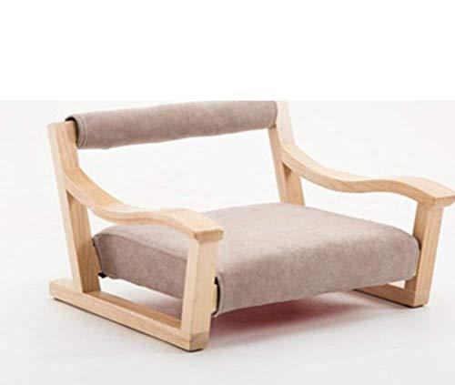 YLCJ Silla Japonesa Zaisu Tatami, Silla Plegable para el Piso con Respaldo Meditación Game-B