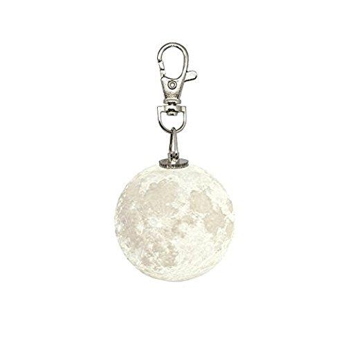 JBES Luz luna 3D llavero Accesorios bolso Llavero