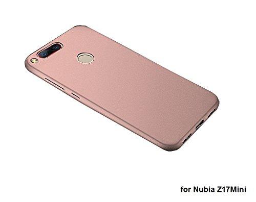 Deesos Nubia Z17 Mini Hülle Ultra Slim Weich TPU Schrubben Kompletter Schutz Gestein Sand Komfortabel Gefühl Hülle für Nubia Z17 Mini Rose Gold