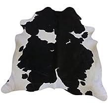 Zerimar Alfombra piel de vaca ¡OFERTA ESPECIAL 75º ANIVERSARIO! Medidas: 205x200 cms 100% Natural Piel procedente de brasil, consideradas las mejores pieles bovinas del mundo por su curtición y brillante pelo