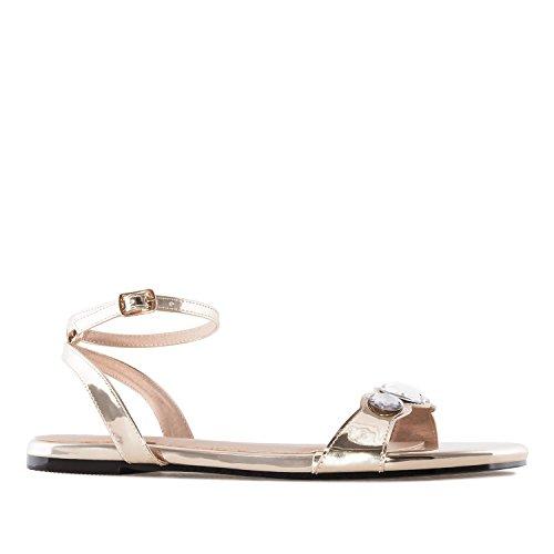 pour Soft A Soft Grandes sandales En Andres Grandi Formati Oro 42 Donne pour 42 Am5235 Machado Pointures Andres Machado Or Am5235 Plates Femmes 45 Appartamento sandales 45 XYn6Oq
