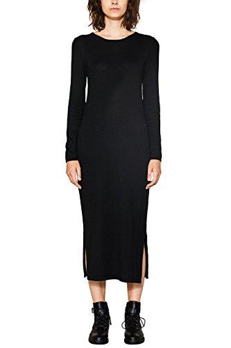 edc by ESPRIT Damen Kleid 087CC1E001 Schwarz (Black 001), Medium