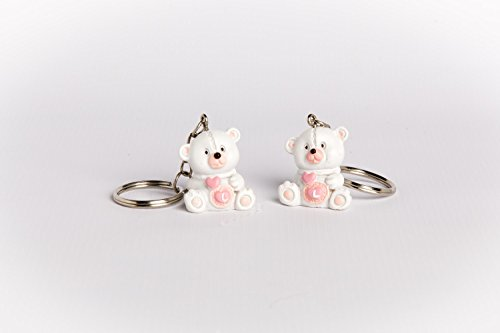 12 portachiavi orsetti rosa bomboniera