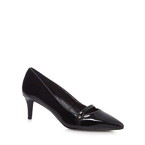 8ebbc907b84d Debenhams The Collection Womens Black  Citten  Mid Kitten Heel Wide Fit  Court Shoes 6