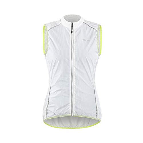 Comcrib Damen Radsport Weste Reflektierende Winddichte Jacke ärmellose Wasserdichte Atmungsaktive Weste für Mountainbike Jogging