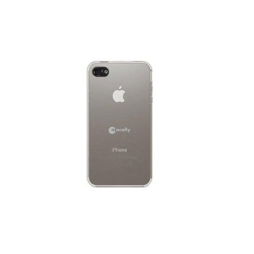 Macally Flexible Schutzhülle für Apple iPhone 4S weiß transparent