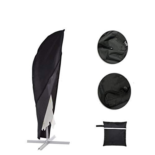 LISI Sonnenschirmabdeckung, Große Regenschirmabdeckung Mit Reißverschluss, Regensicherer UV-Schutz, Schwarz, H280cm: 30x81x46cm (Farbe : Black, Size : 420D PU Oxford Cloth) -