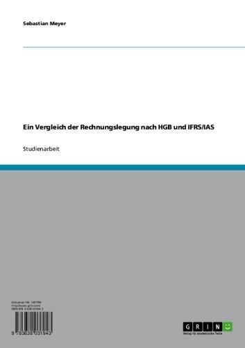 Ein Vergleich der Rechnungslegung nach HGB und IFRS/IAS