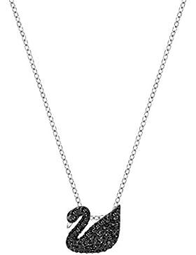 Swarovski Iconic Swan Anhänger, klein, schwarz