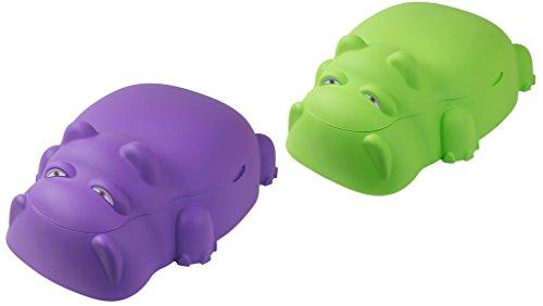 Hippo Sandkasten Planschbecken mit Deckel Sandkiste Kinderpool Buddelkasten , Farbe:lila