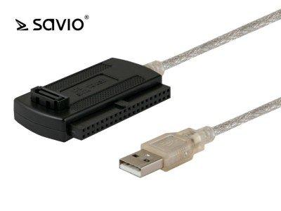 Preisvergleich Produktbild SAVIO Adapter USB 2.0 – IDE SATA / ATA ak-07