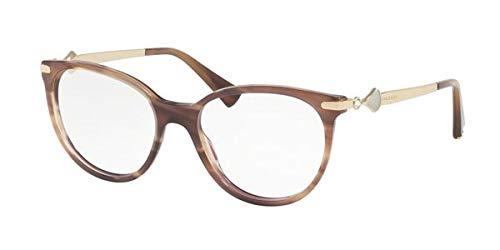 Bulgari BVLGARI Damen Sonnenbrille 0BV 4143 5240 53, Braun (Striped Brown)