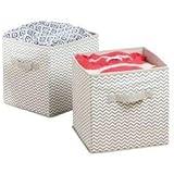mDesign boîte de rangement gris clair – panier de rangement idèale pour l'armoire – organiseur polyvalent – Paquet de 2