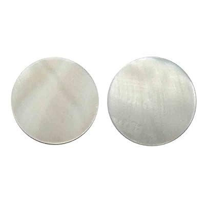 Boucles D'oreilles femme rétro disque rond en nacre blanche blanc cassé clou ou Clip oreilles non percées