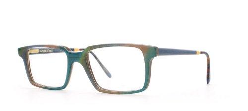GOLD & WOOD Herren Brillengestell Grün Green Blue Brown