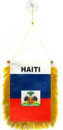 AZ FLAG Fanion Haïti 15x10cm - Mini Drapeau haïtien 10 x 15 cm spécial Voiture - Bannière