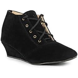 Bonzer NAG-562 Fashionable Stylish & Smart Casual Boot for Women (EU39, Black)