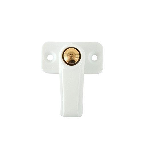 Preisvergleich Produktbild CaraLife Stauklappen Dreh Riegel Weiß Vorreiber 3, 5 mm Grundplatte