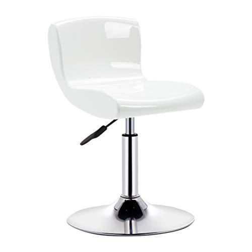 Tabouret De Bar Réglable en Hauteur Chaise De Levage Chaise Table De Bar Et Chaise Tabourets Hauts Ensemble De HUYP (Color : White, Size : S)