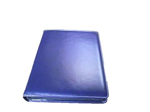 Ringbuch DIN A4 mit Reißverschluss, Echt Leder, blau