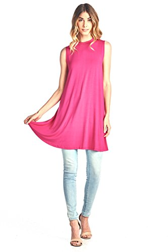 Damen Schwangerschafts-Tankkleid aus weichem Bambus, ärmellos, Violett - XX-Large -