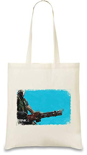 Brink Maschinengewehr - Brink Machine Gun Custom Printed Tote Bag| 100% Soft Cotton| Natural Color & Eco-Friendly| Unique, Re-Usable & Stylish Handbag For Every Day Use| Custom Shoulder Bags ()