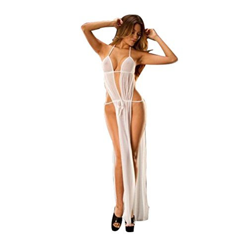 Beikoard Sexy Dessous, Damen Spitze Sexy Dessous Nachtwäsche Unterwäsche Baby-Puppe Nachtwäsche-G-String Offene Brüste Perspektive Dessous Unterwäsche Pyjamas (Weiß)