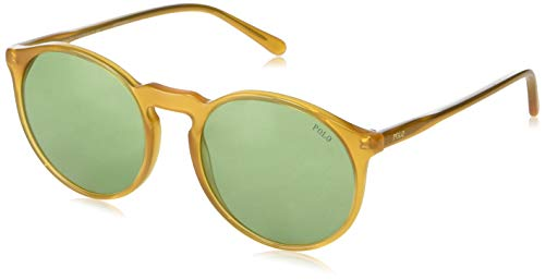 Polo Ralph Lauren Damen 0Ph4129 527571 53 Sonnenbrille, Gold (Hey/Green)