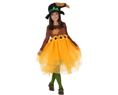 ATOSA 23717 - Vogelscheuche Mädchen Kostüm, Größe 116, braun/gelb