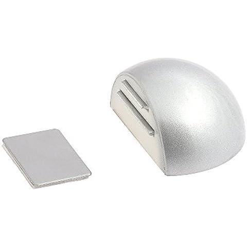 Wolfpack 5320340 - Tope puerta adhesivo con imán retenedor cromo mate