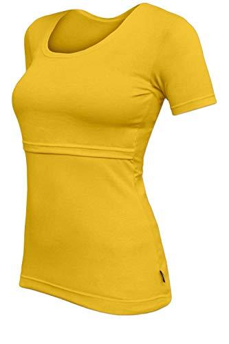 T-Shirt maternité Allaitement Manches Courtes, Coton Light Orange Taille L/XL (44-50)