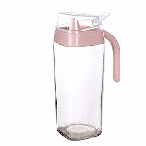 TTHOME Glas Öl Krug Einfach Zu Bedienen Küchen-Organizer, Rosa - Glas Versiegelt Krug
