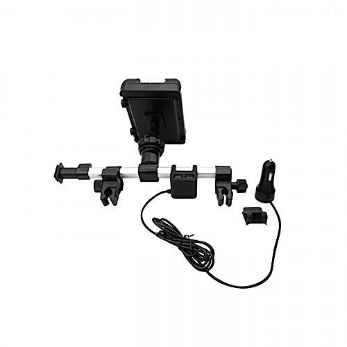 """Macally HRMOUNTPRO4UAC, Kopfstützen Autohalterung mit USB Ladegerät für alle iPad & Tablet PCs bis 25 cm Breite, kompatibel zu 12,9"""" iPad Pro"""