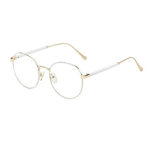 Luckiests Mode Brillen-Rahmen Vintage transparente Gläser Retro Plain Objektiv Optischer