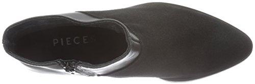 Pieces Psdabai Leather Boot Black, Bottes Classiques Femme Noir (Black)