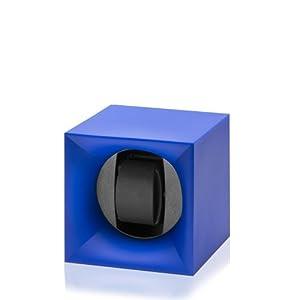 Swiss Kubik Uhrenbeweger Startbox für 1 Uhr Batteriebetrieb blau SK01.STB.005