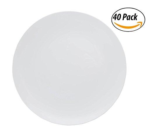 40 Abendessen (trendables Premium Einweg Kunststoff Teller, lebensmittelechtem Kunststoff Abendessen Teller-40Pack, plastik, Geo, 8 Inch.)