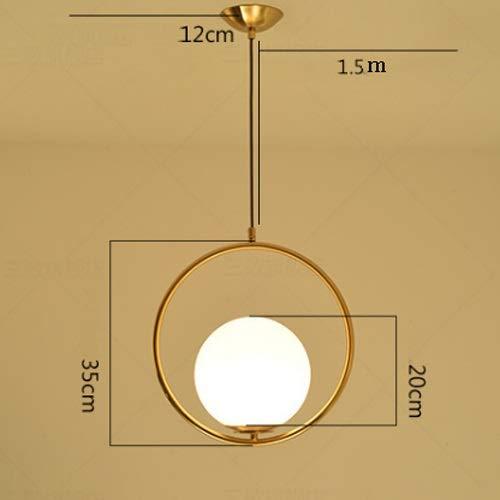Xungzl Nordic Kreative Glas Schmiedeeisen Überzug Oval Kronleuchter Einfache Persönlichkeit Wohnzimmer Beleuchtung Schlafzimmer Nacht Led E27 Basis Edison Niederlassungen (Color : C) - Dicke Ovale Basis