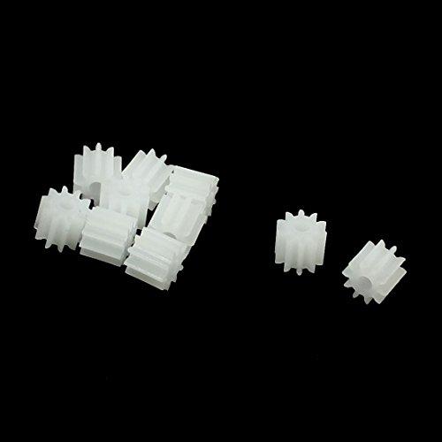 Preisvergleich Produktbild sourcingmap® 10 Stk Kunststoff Weiß 10 Zähne Elektrisch Modelle Gezackt Räder Zahnräder