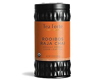 Tea Forté Chakra Rooibos Raja Chai - Infusion Bio Premium - Etui Aluminium Recyclable - 100g