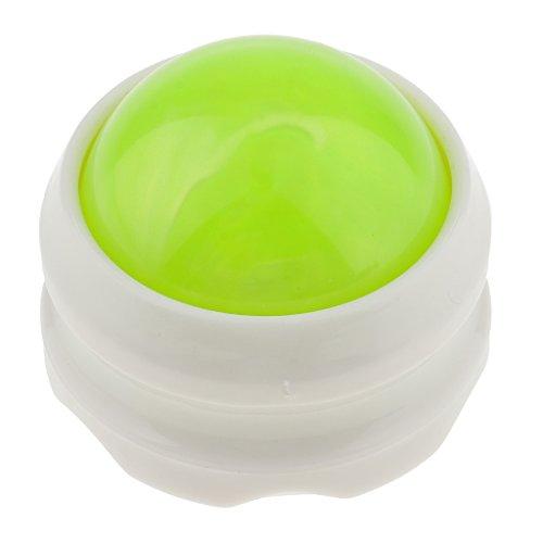 MagiDeal Massageball mit der Einfüllöffnung für Massageöl, Professionell Massagekugel für zu Hause, Büro Muskel Entspannung, ideal für Ganzkörper wie Rücken Nacken Fuß Selbst Massager - Grün-Weiß