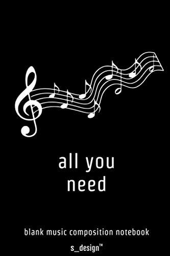 Musik Notizbuch zum Song-Schreiben / Song-Writing, Songtexten / Songtext Schreiben: [120 Seiten weisses blanko Papier]
