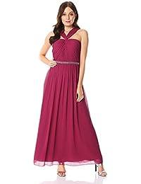 56f3020a92 Roman Originals Femmes Robe Longue Dos Nu ornée de Perles - Robes de soirée  Longues,