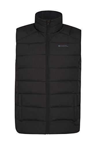 Mountain Warehouse Chaleco de plumón acolchado para hombre Crescent. Ideal para el invierno Negro Large