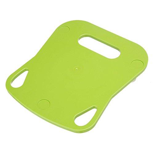 KochFix Gleitbrett für Thermomix TM5 | Premium-Rollbrett für die Küche mit Teflongleitern | Untersetzer (Grün)
